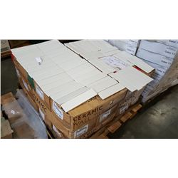 30 BOXES NEW WHITE CERAMIC SUBWAY TILE, 2 INCH BY 8 INCH TILES 80 PER BOX