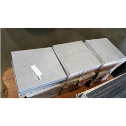 9 BOXES GREY SLATE 12 INCH BY 12 INCH FLOOR AND WALL TILES, 11PCS PER BOX