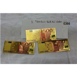 3 FOIL EURO NOTES