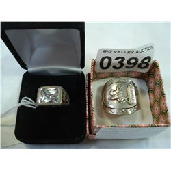 MENS RING BAND AND STERLING RING