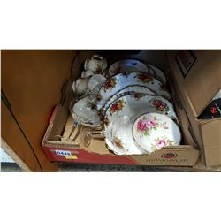 ROYAL ALBERT PLATES AND CUPS