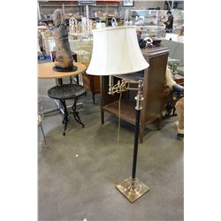 BRASS AND BLACK FLOOR LAMP