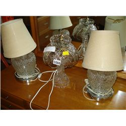3 LAMPS ONE CRYSTAL