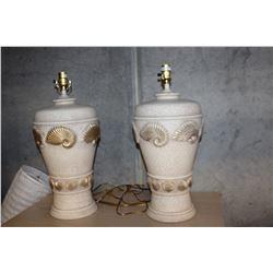 PAIR OF CERAMIC DESIGNER LAMPS