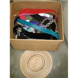 LOT OF HATS AND BELTS