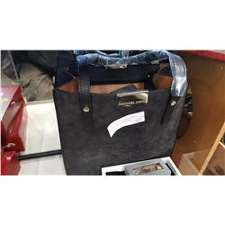 NEW MICHAEL KORS BLACK LEATHER TOTE BAG NOT GUARANTEED AUTHENTIC