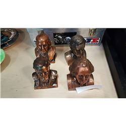 4 PRESIDENT COIN BANK BUSTS
