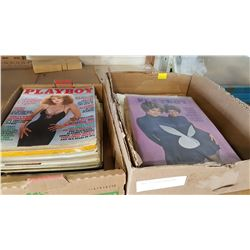 2 TRAYS OF PLAYBOY MAGAZINES