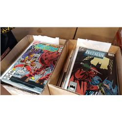 2 TRAYS OF COMICS BATMAN