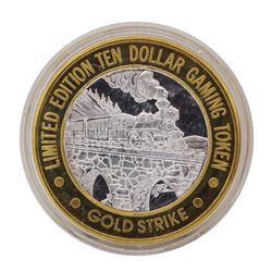 .999 Silver Gold Strike Hotel & Casino Jean, NV $10 Limited Edition Gaming Token