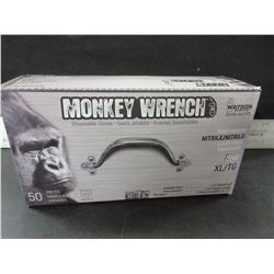 New box of 50 Watson Monkey Wrench disposable gloves / heavy weight