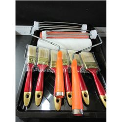 New Painting Bundle / Paint Tray 2 rollers & 2 Handles / 6 Brushes