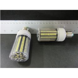 2 New 136 LED Cobb Lightbulbs / fits standard outlet / = to 100 watt incondescent