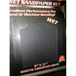 New 20 piece Wet Sandpaper set / 60-100-150-240 grits 5 of each