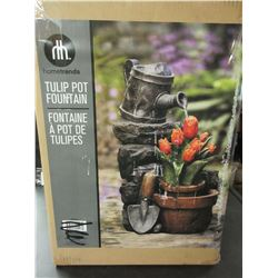 New Tulip Outdoor Pot Fountain / great for Back Yard or Patio / quality pump