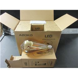 New 6 Pack LED Antique Edison Bulbs st64 - 6w dimmable / $85.00 in store