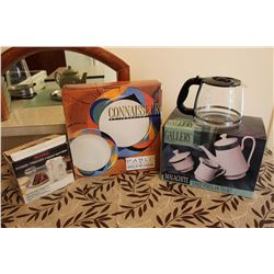 Lot of Misc Kitchen Items (Serving Set, Hand Mixer, Tea Set)