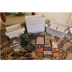 Lot of Misc Household (Storage Containers, Surface Savers, Ornaments)