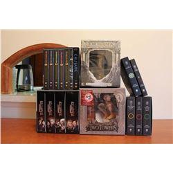 BattleStar Galatica DVD Set, Babylon 5 DVD Set, L.O.T.R Special Edition DVD (2), Tolkien Books (LOTR