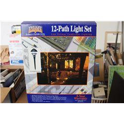 NIB Twilight Low Voltage 12-Path Light Set