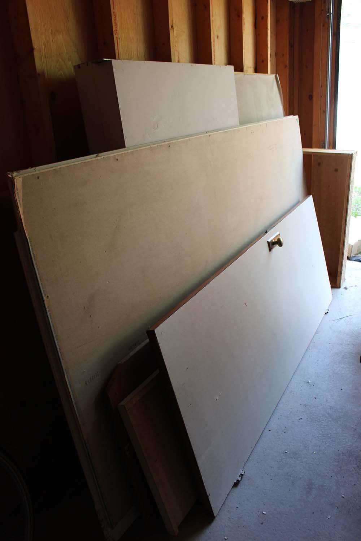 Lot of Misc Building Supplies (Drywall, Door, Etc)