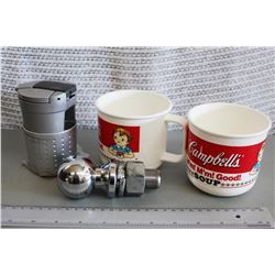Trailer Hitch, Campbells Cups, Ciggerate Ash Tray
