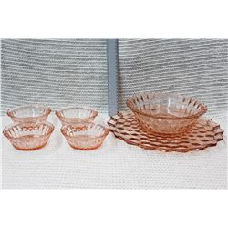 Pink Crystal Serving Set