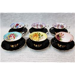 (7) Royal Albert China Teacups
