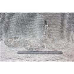 Crystal Decanter Set (4pc)