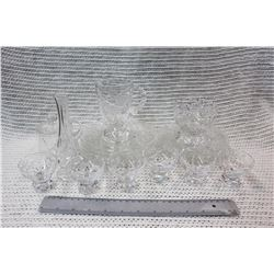 Set of Crystal Glasses and Plates