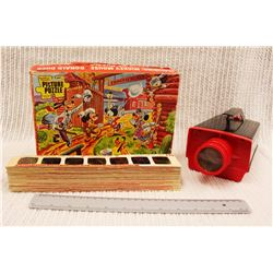 Vintage Mickey Mouse Puzzle and Children's Magna Slide Projector w/Slides