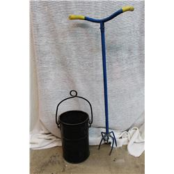 Garden Claw and (2) Metal Buckets