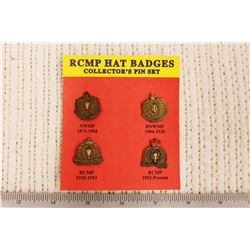 RCMP Hat Badges Collector's Pin Set