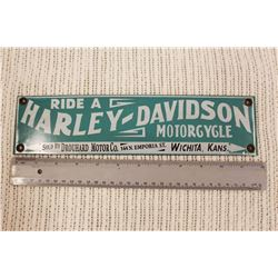 Porcelain Harley Davidson Motorcycle Sign