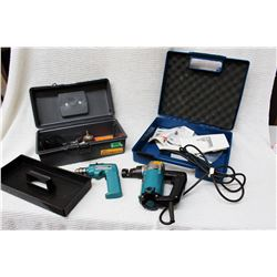 (2) Tool Boxes w/Electric Drills and Bits