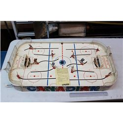 Vintage Canadian Hockey Game, Metal, Includes Puck And Instructions