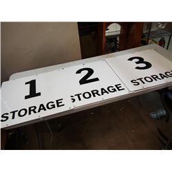 Storage Signs (3)