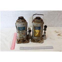 (2) Hydraulic Bottle Jacks
