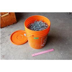 """Large Bucket of 4"""" Screws"""