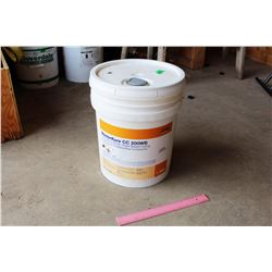 Bucket of MasterKure CC200WB Transparent Acrylic Waterbased Sealing and Dust Proofing Compound (Seem