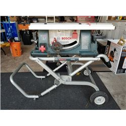 "Bosch Table Saw With Stand, 10"" Blade"