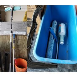 Glass Cleaning Kit W/ Extendable Pole Handle