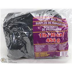 1LB BAG OF 100% ACRYLIC YARN BLACK