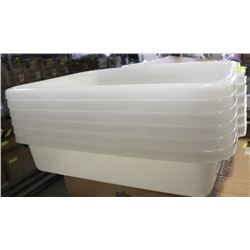 NEW TOTE BOXES WHITE - LOT OF 6