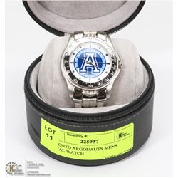 TORONTO ARGONAUTS MENS METAL WATCH