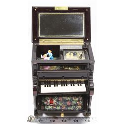 ESTATE MUSIC BOX JEWELLERY BOX
