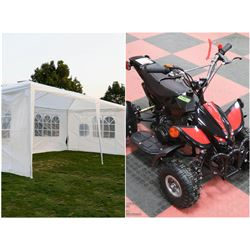 FEATURED ITEMS: NEW MINI QUAD AND WEDDING TENTS