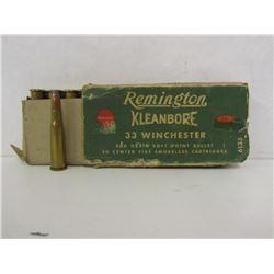 33 WIN REMINGTON KLEANBORE 17 ROUNDS IN BOX