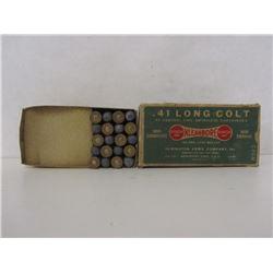 .41 LONG COLT 20 RNDS IN REMINGTON KLEANBORE BOX