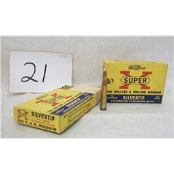 2 BOXES VINTAGE .300 H&H